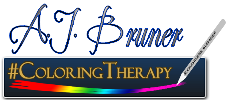 A. J. Bruner/#ColoringTherapy logo