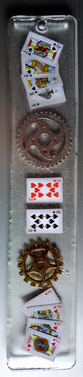 Bookmark with Gears and Cards - $15.00