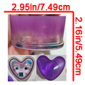 Purple Heart-Shaped Container - $19.00
